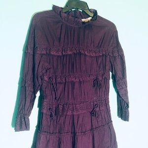 Chelsea and Violet rich plum runched frock